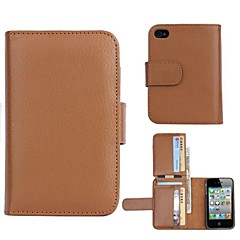 High-Grade Wallet Design PU Leather Full Body Case with Card Slot for iPhone 5/5S (Assorted Colors)