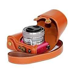Dengpin® for Sony A5100 ILCE-5100L Leather Camera Case Bag Cover with Shoulder Strap Charging Style