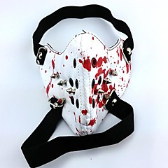 Mask Inspired by Tokyo Ghoul Cosplay Anime Cosplay Accessories Mask White PU Leather Male