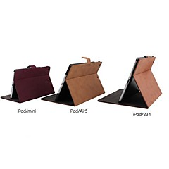 Grind Arenaceous PU Protective Case Cover with Stand for iPad 2/3/4