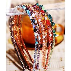 πολύχρωμα μόδας ακανόνιστη κρύσταλλο hairbands διακόσμηση (1 τεμ) (περισσότερο χρώμα)
