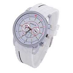 Coway Three EyesMen Round Silver Dial  Leather Band Quartz Analog Wrist Watch(Assorted Color)