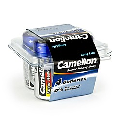 Camelion Super Heavy Duty C Size Battery in Plastic Box of 4 PCS