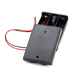 3Pcs AA Cells Battery (4.5V) Clip Holder Box Case Black