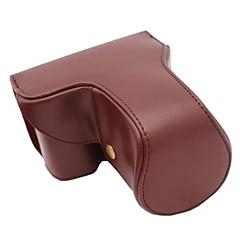 pajiatu® langen Objektiv Stil PU-Leder Kamera Schutzhülle Tasche Hülle für Sony alpha A6000 18-55 / 16-50mm oder 2,8 / 16 Objektiv