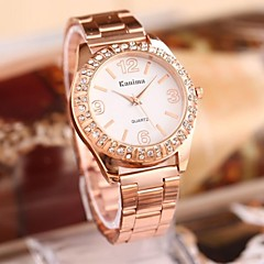 Women's Fashion Rhinestones Steel Belt Watch
