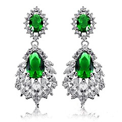 Luxurious Women's Full Crystal Stainless Steel Platinum Plating Stud Earrigs