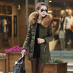 Women' Fashional Insulation long Down Jacket with Big Fur collar