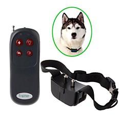 eletrônico casca choque trainer colar de controle remoto para o cão - preto