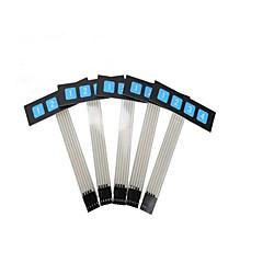 ZnDiy-BRY 1 x 4 Key Slim Matrix Membrane Switch Control Panel Keypad Keyboard - Black + Blue (5 PCS)