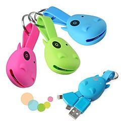 aranyos 2 in 1 micro USB 8 pin villám az USB töltőkábel kulcstartó Samsung Galaxy S4 / S3 és iPhone 5 / 5s