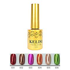 1pcs kelisi profissional gel uv de cor metálica no.31-36 (12ml, cores sortidas)