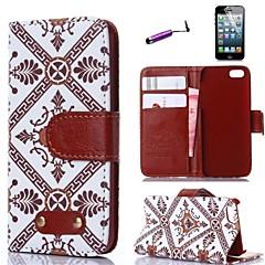 retro padrão tribunal design de couro pu cobrindo todo o corpo com o estilete e slot para cartão de proteção para o iPhone 5 / 5s
