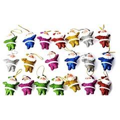 poco santa claus muñeca decorativa brillante lindo para la Navidad - multicolor 20 piezas