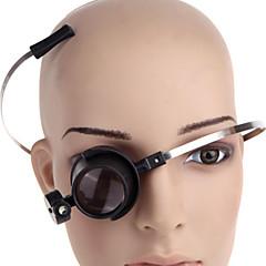 ZW-13b-en 15x eye-clamp fria ledde klocka reparation lupp förstoringsglas (2 x CR1620)
