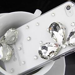 elegante com diamante tampa traseira difícil para 5s iphone 5 / telefone