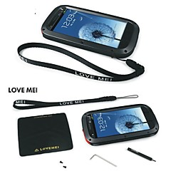 Love Mei Waterproof Shockproof Aluminum Gorilla Metal Case for SAMSUNG I9300 GALAXY S3(Assorted Colors)