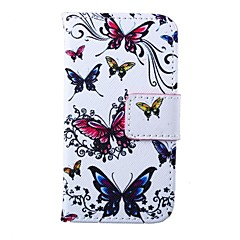 Butterflies Pattern PU Leather Full Body Case for iPhone 4/4S
