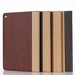 9,7 pouces deux pliage motif grain de bois étui en cuir pour iPad 2 (air couleurs assorties)