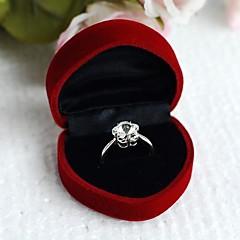 Women's Heart Earring Ring Box