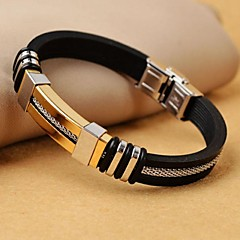 Classic Men's High Quality 316L Stainless Steel Wrap Leather Bracelets Jewelry