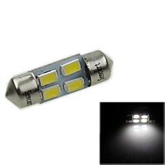 31MM(SV8.5-8) 2W 4X5730SMD120-1600LM 6000-6500K White Light LED Bulb for Car Reading Lamp(AC12-16V)