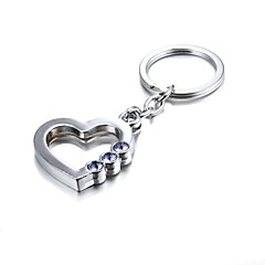 3D Bling Purple Crystal Mysterious Heart Zinc Alloy Keychain(First 10 Customers With Box Added)