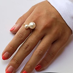 Ring Fashion Party Jewelry Pearl Women Midi Rings 1set,One Size Gold