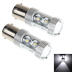 2Pcs 1156 12W 10x Samsung 2323 SMD 1100LM 6000K White Light LED for Car Headlamp / Fog Light Lamp  (DC 10-30V)