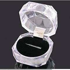 kvinnors transparent akryl kristall ring box