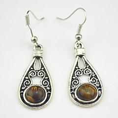 Earring Drop Earrings Jewelry Women Party / Daily Alloy Brown