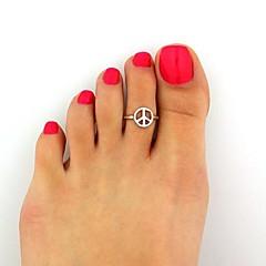 Anillos De mujeres / Mujer Sin piedra Aleación Aleación Ajustable Plata El tamaño del anillo es ajustable