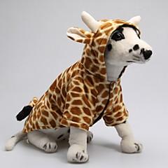 Divertido Modelo de la jirafa lindo 3D con capucha Traje para perros (XS-XL)