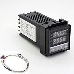 24V REX-C100 K-Type Temperature Controller with Thermocouple