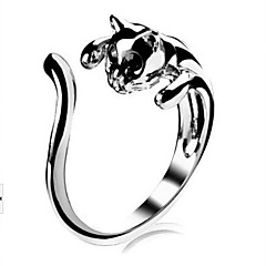 Fashion Opening Cat Women's Alloy Rings(Silver)(1 Pc)