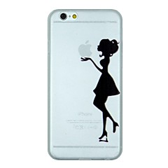 The Girl Holding The Apple Pattern PC Hard Transparent Back Cover Case for iPhone 6