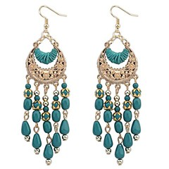 Earring Drop Earrings Jewelry Women Daily Alloy Gold