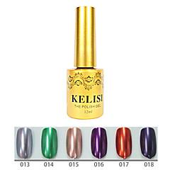 1pcs kelisi gel de color ultravioleta de metal profesional no.13-18 (12 ml, color clasificado)