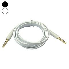 1m 3.3ft vlakke noodle 3,5 mm audio jack man op man-kabel (assorti kleur)