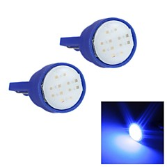 Merdia T10 1.5W COB 300LM 6SMD LED Highlight Blue Light for Car Instrument Light /Licence  Plate Light
