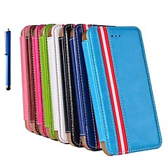 The European Style Leather Case with Stand Hold and Pen for iPhone 5/5S(Assorted Colors)