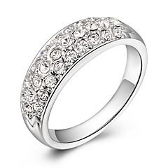 ROXI Luxury Genuine SWR Crystal White Gold Statement Ring(1 Pc)
