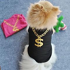 Gatos / Perros Camiseta Negro / Rosado Ropa para Perro Verano Boda / Cosplay