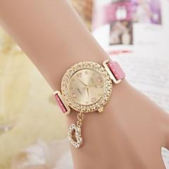 damesmode diamant hart hanger quartz horloge (verschillende kleuren)