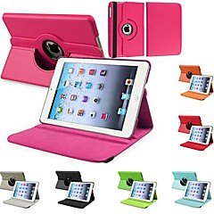 DF Durable Flip-open PU Leather Full Body Case with 360 Degree Rotation Stand for iPad 2/3/4 (Assorted Colors)