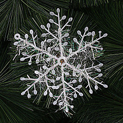 10x3PCS Nochi Christmas Tree Ornament Christmas Snowflake Window Stickers(Assorted Size)