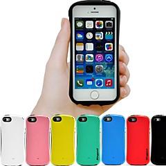 pc cor sólida e tpu hybrid caso tampa traseira à prova de choque com alça para 5s iphone (cores sortidas)