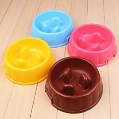 ciotola rotonda di plastica per cani da compagnia (colore casuale)