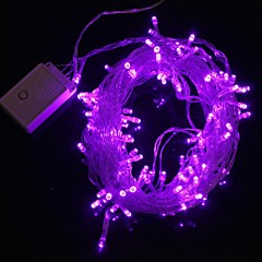 Z®ZDM 10M 9.6W Christmas Flash 100-LED Purple Light Strip Light Lamp (EU Plug , AC 220V)