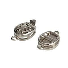 10mm Hollow Silver Tone Jewelry Bracelet Necklace Buckle Hook Clasp (10pcs)